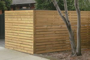 Treated Pine Fence - Horizontal Paling …   The Wall   Decking fence
