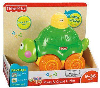 Amazon com: Fisher-Price Go Baby Go! Press And Crawl Turtle