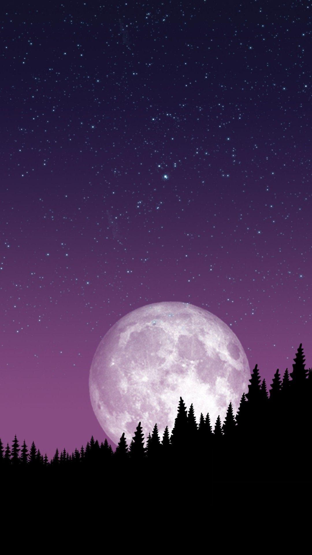 Biggest Light Earth Night Sky Wallpaper Dark Wallpaper Beautiful Moon