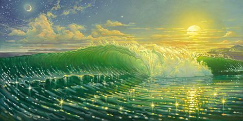 """""""Therapy"""" #SurfArt by Bill Ogden was featured in Longboard Magazine's Art of Surfing Issue in July 2007."""