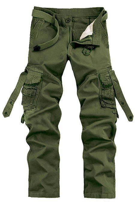 08503c24f11 Menschwear Men s Multi Pocket Casual Cargo Trousers Sports Outdoors  Military  Amazon.co.uk  Clothing