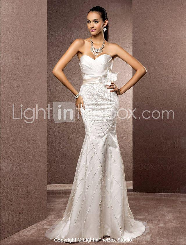 7620608d477e Lanting Bride® Trumpet / Mermaid Petite / Plus Sizes Wedding Dress - Chic &  Modern / Elegant & Luxurious Sparkle & Shine weep / Brush 2017 - $169.99