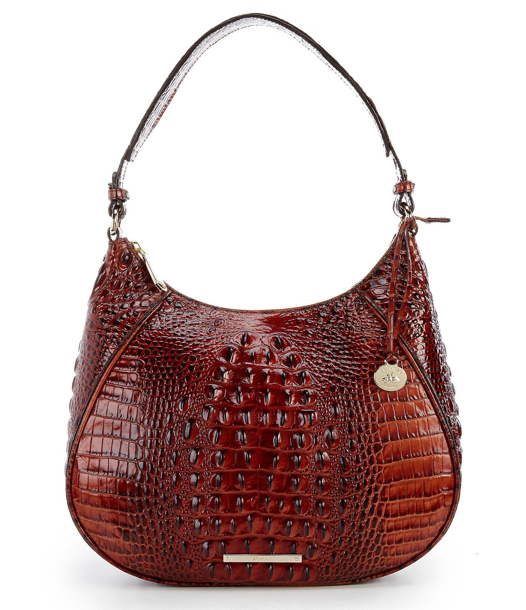 2a10934c7273 Brahmin Melbourne Collection Amira CrocodileEmbossed Hobo Bag #Dillards