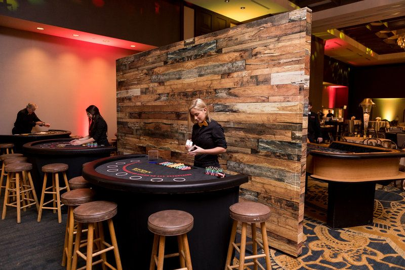Casino games chairs customized wooden wall speakeasy