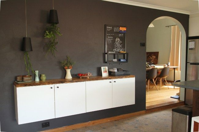 Ikea Kitchen Credenza : Diy floating buffet with or without ikea saltbush avenue