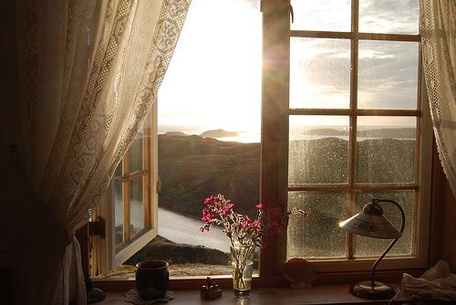 Love windows like these, and the curtains, and the view!