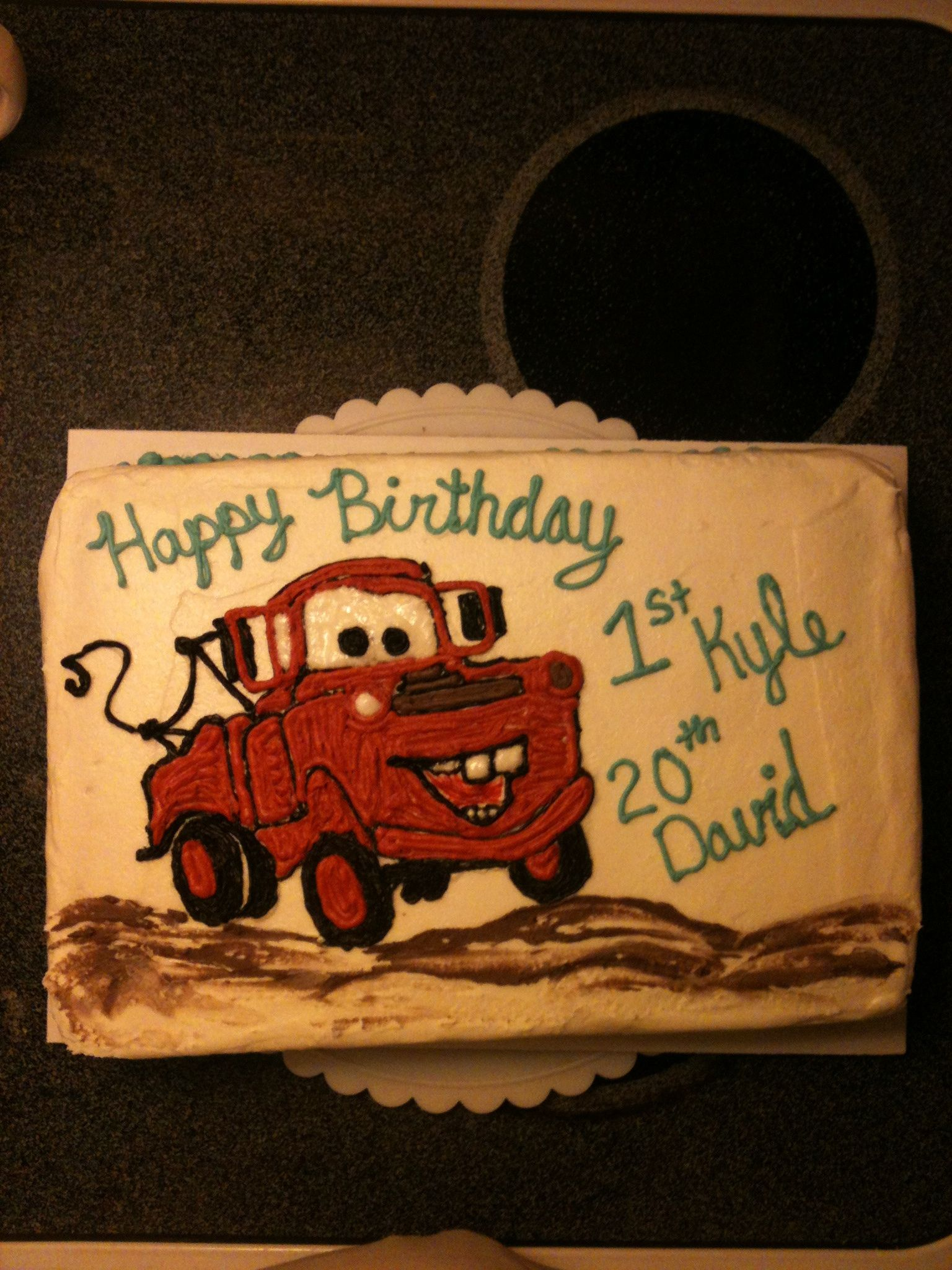 Groovy Tow Mater Birthday Cake With Images Disney Birthday Cakes Funny Birthday Cards Online Benoljebrpdamsfinfo