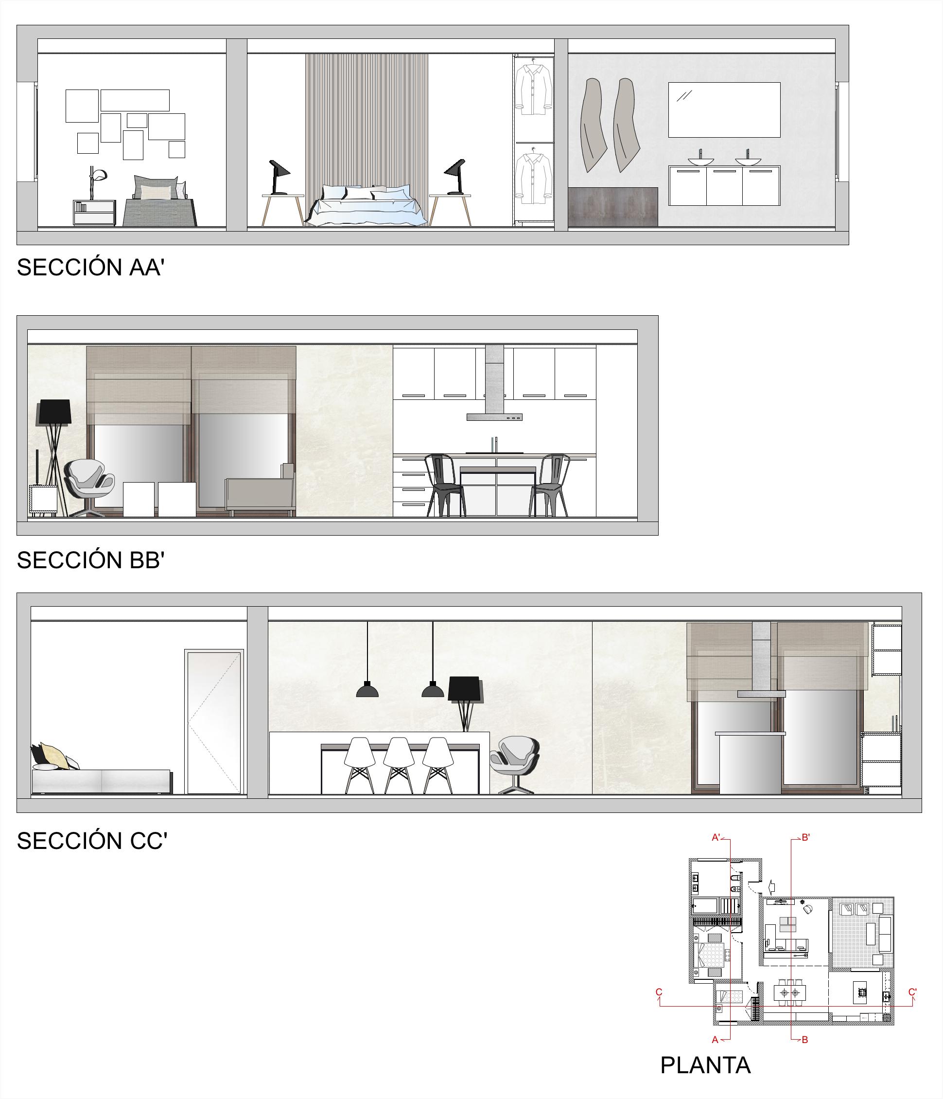 Planos De Secciones De Una Vivienda Planos Plano De Detalle Planos Arquitectonicos Planos
