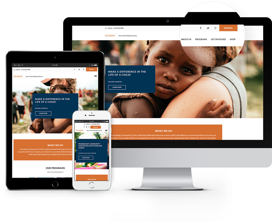 A Well Designed Organizational Website Is Essential To Help Non Profits Engage New Supporters Nonprofit Website Design Website Design Web Development Agency