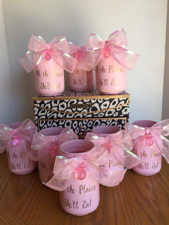 Baby Shower Centerpiece Pink Mason Jar Centerpiece Baby Etsy Baby Shower Decorations Baby Shower Centerpieces Mason Jar Baby Shower