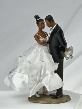 Ty Wilson African American Bride And Groom Wedding Cake Topper Figurine