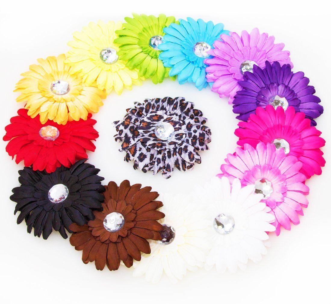 Ema Jane 13 Assorted Cute Large Gerber Daisy Flower Hair Clips