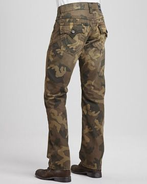 cc56a1a21 True Religion Ricky Distressed Camouflage Jeans