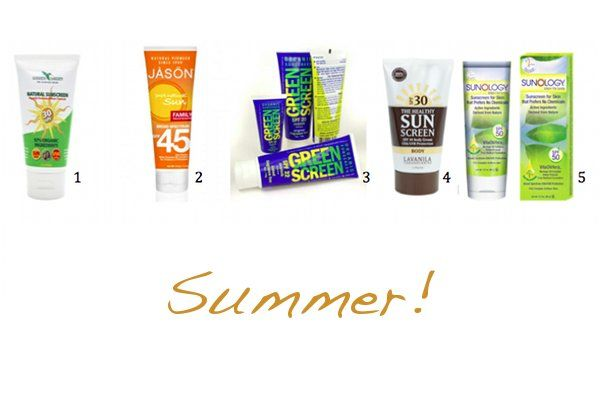 5 Natural and Vegan Sunscreens for Summer