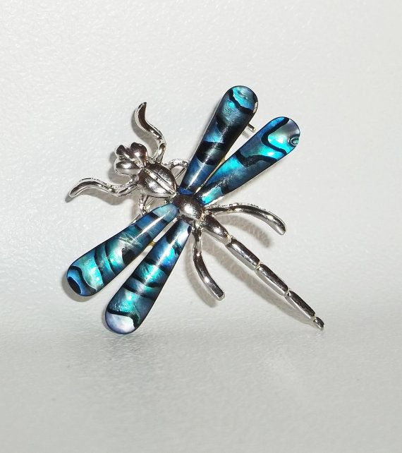 Dragonfly brooch pin by dollherup on Etsy, $8.00