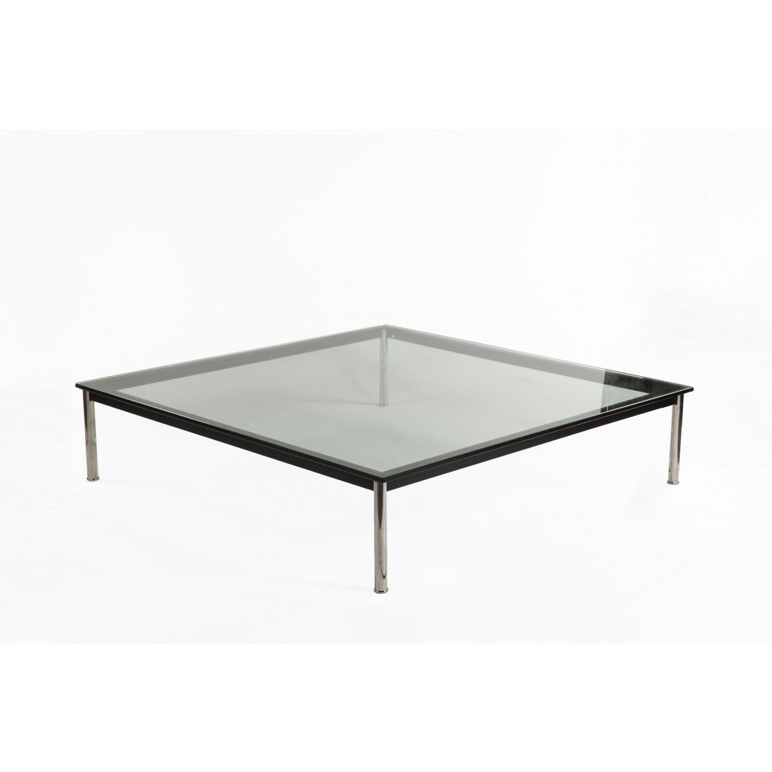 Mid Century Modern Reproduction Square Low Coffee Table Large Inspired By Le Corbusier