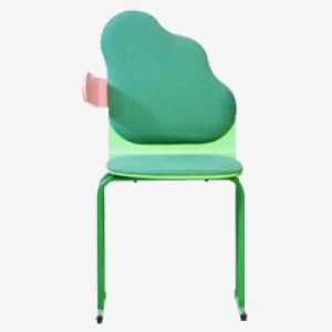 Green Small Cloud Chair by Yrjõ Kukkapurros, 1980s