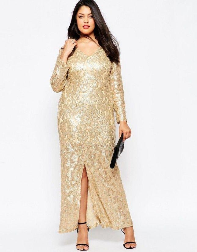 plus size dress long gold | Color dress | Pinterest | Sleeve, Gold ...