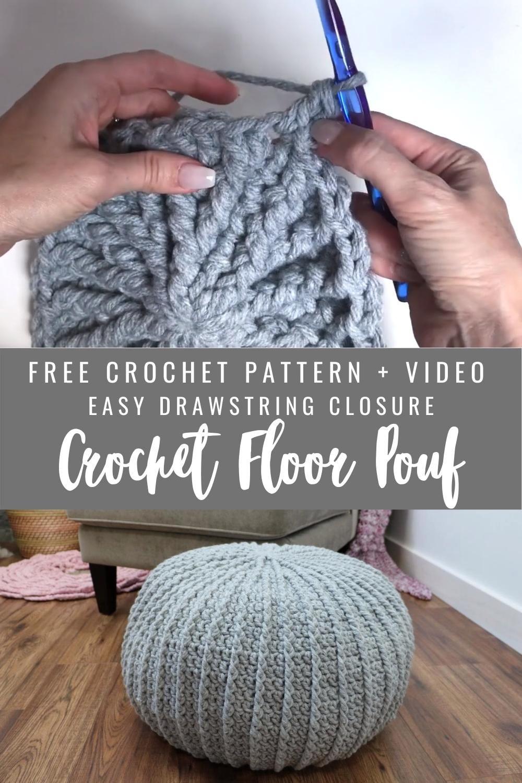 Photo of Free Crochet Floor Pouf