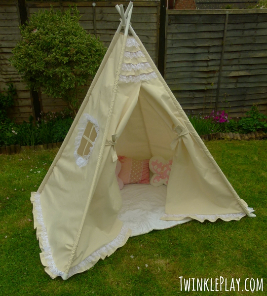 Lace Frill Teepee Play Tent & Lace Frill Teepee Play Tent | Por Bebe | Pinterest | Teepee play ...