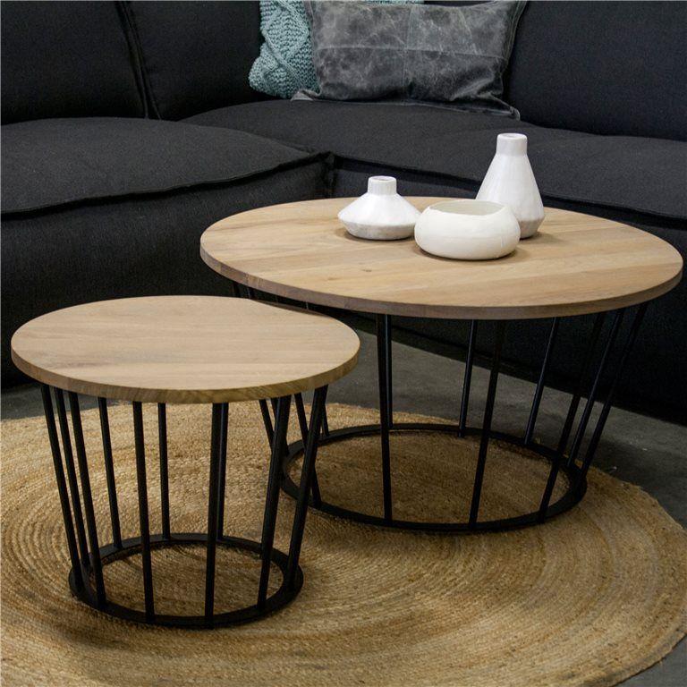 Spinder framer salontafel 80 cm salontafel staal en ontwerp - Kleursalon ontwerp ...