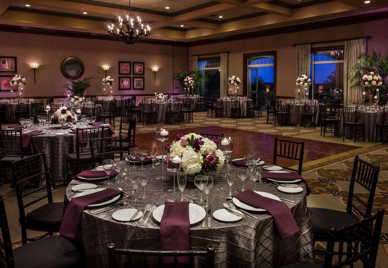 Wedding reception at lansdowne resortus clubhouse ballroom purple