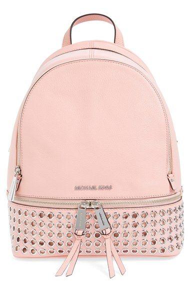 MICHAEL Michael Kors 'Rhea - Zip Grommet' Leather Backpack ...