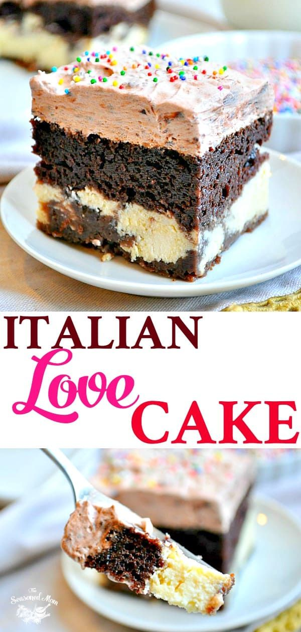 Easy Chocolate Italian Love Cake is part of Italian love cake - This Chocolate Italian Love Cake starts with a boxed cake mix for an easy dessert recipe that only looks fancy!