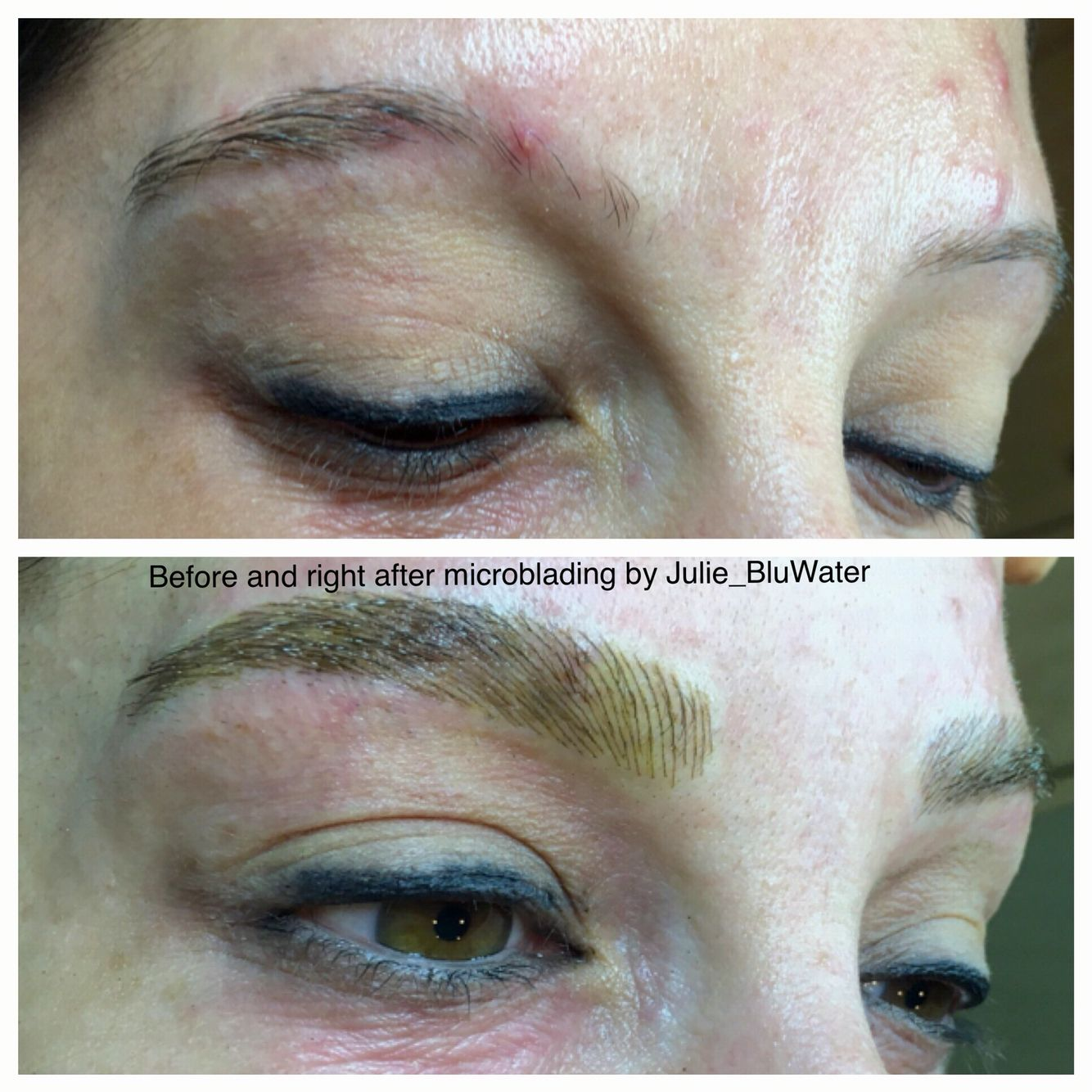 Microblading for Trichotillomania by Julie Blu Water Day