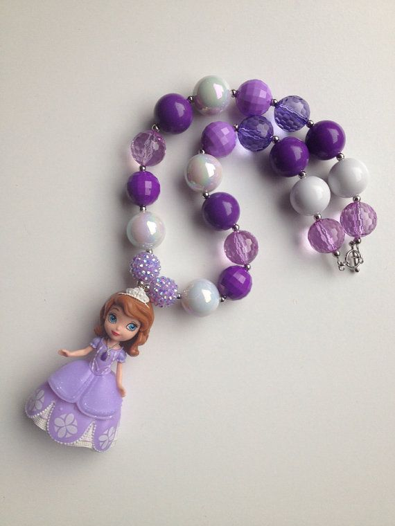 Sophia the first necklace..chunky by GirlzNGlitter on Etsy, $22.00