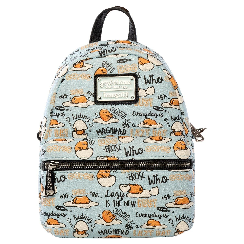 Loungefly x Gudetama Editorial Lazy Egg Allover-Print Mini Backpack