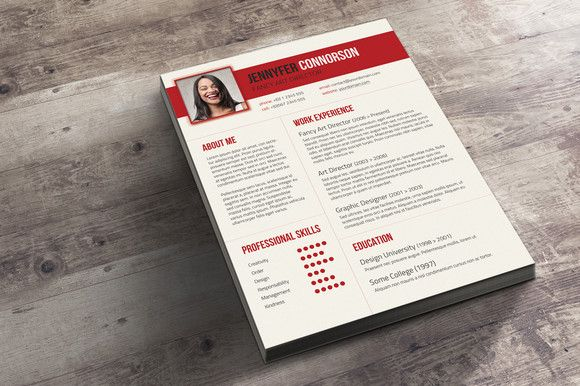 Fancy Resume  Cover Letter By Visual Impact On Creative Market