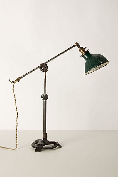x-ray glass shade table lamp