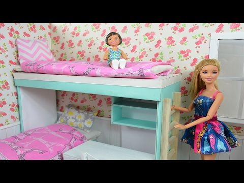 How To Make Barbie Doll Bunk Bed Diy Dollhouse Tutorial Making