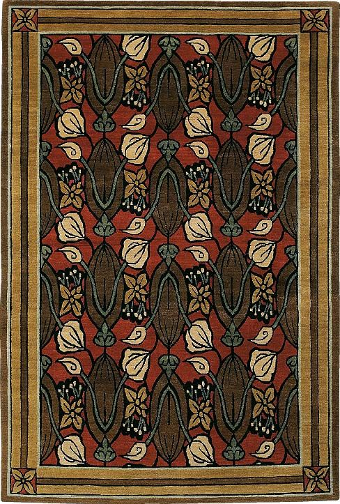 Tulips Ruby 5012 L435 Tiger Rug Art And Craft Design Arts