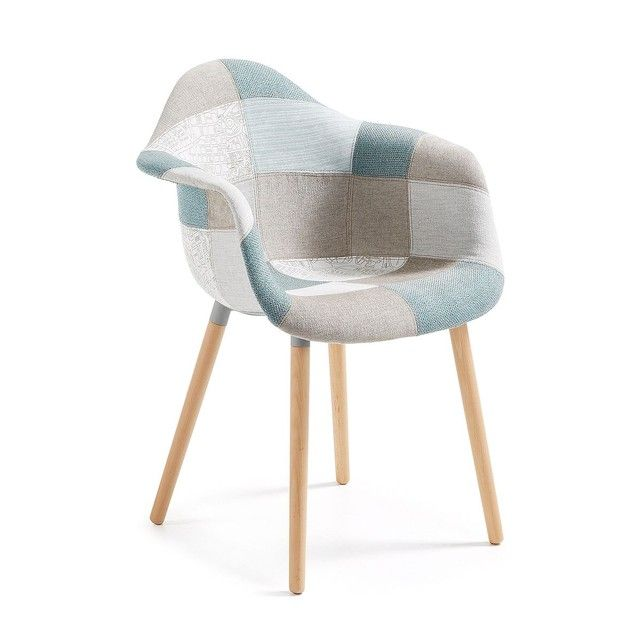Chaise Kevya Patchwork Bleu Multicolore Kave Home