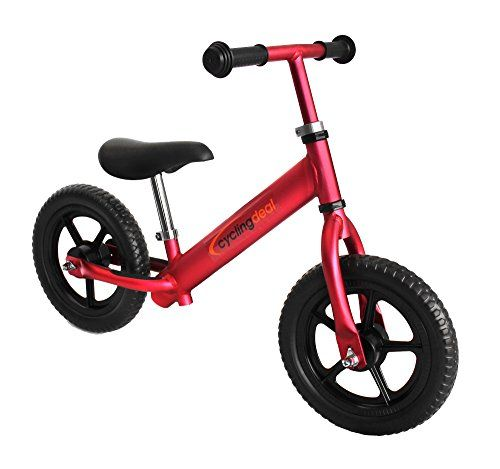 Kids Balance Bikes Alloy Kids Push Balance Nopedal Bike 12 Red