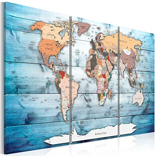 Image 120x80 cm 472 by 315 in 3 colours to choose https 3 colours to choose image printed on canvas wall art print picture photo 3 pieces world map wood k c 0035 b h amazon kitchen home gumiabroncs Choice Image
