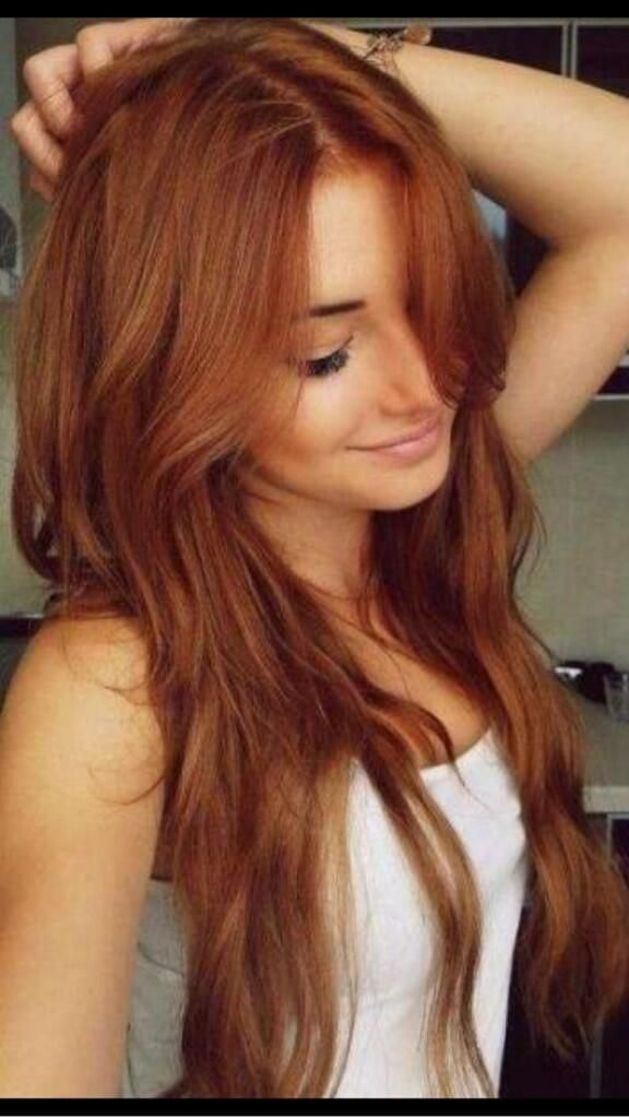 Layered Auburn Red Hairstyle for Long Hair | Cute Hairstyles for ...