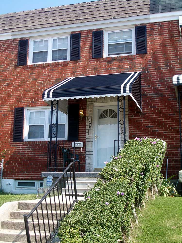 Bedford Blue Awnings For Front Doors Aluminum Awnings House Awnings Awning Over Door