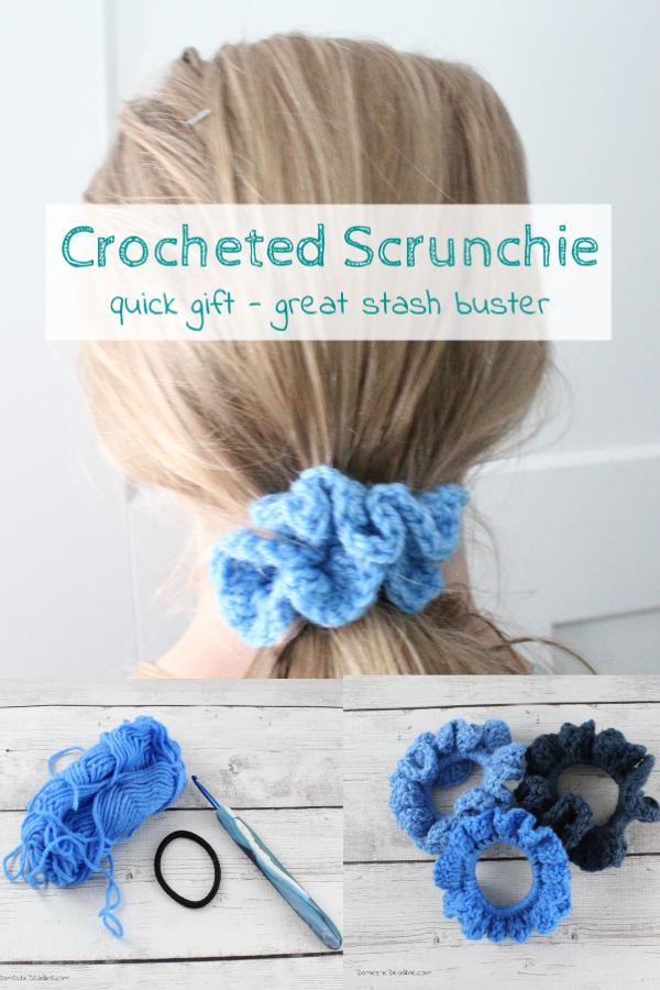 Easy Crochet Scrunchies from Scrap Yarn | Domestic Deadline