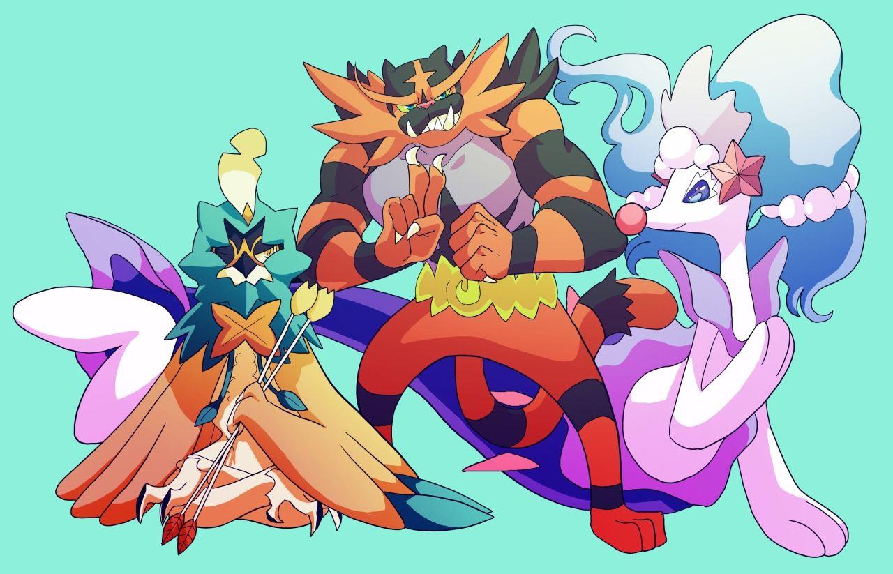Sunnychespin Pokémon Primarina Incineroar Decidueye