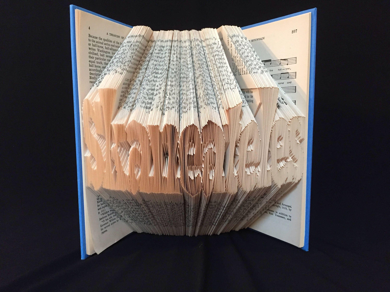 Folded Book Art Skaneateles Lake Unique Gift Custom Hand Made Art