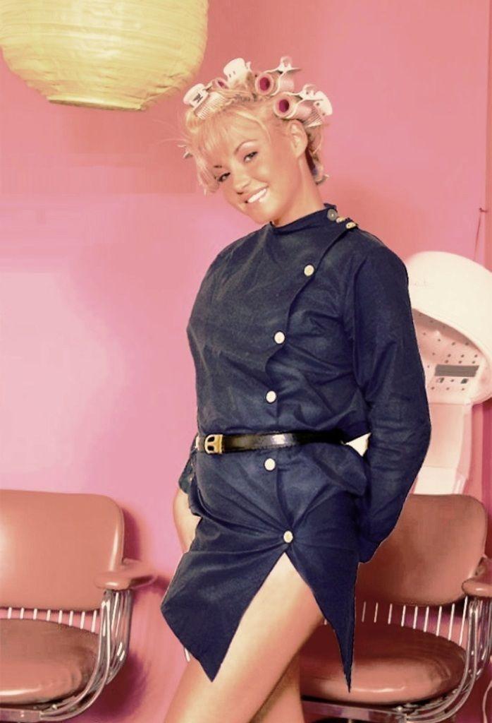 coiffeuse sexy Blouses Tablier blouse, Blouse nylon