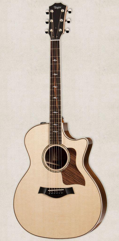 Taylor 814ce Grand Auditorium Cutaway Es2 Acoustic Electric Guitar Natural Guitar Acoustic Electric Guitar Acoustic Guitar