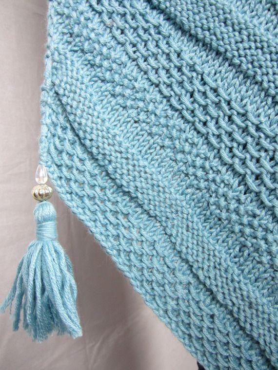 tricoter une echarpe en biais