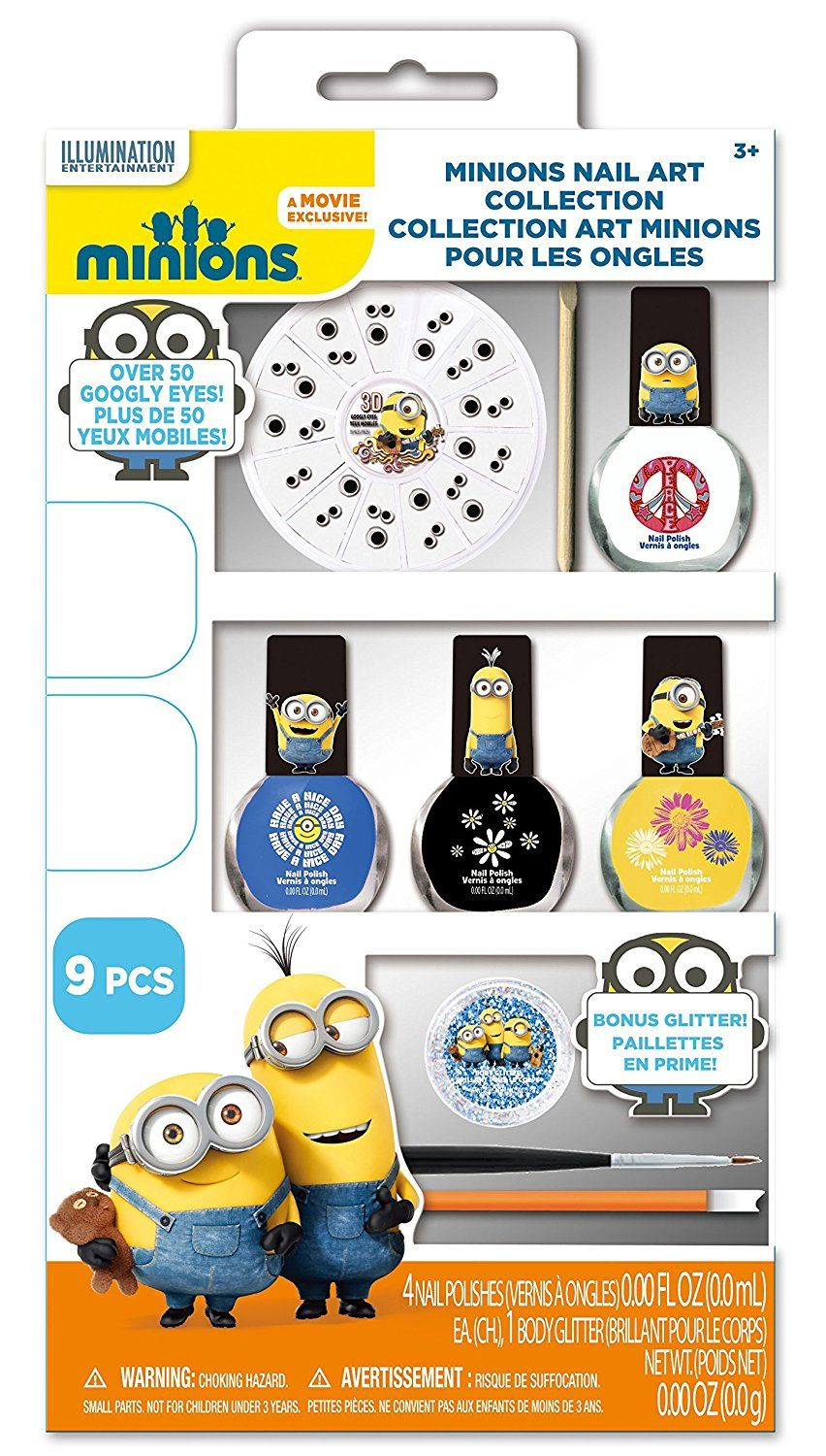 Minions Nail Art Kit, 9 Count >>> This is an Amazon Affiliate link ...