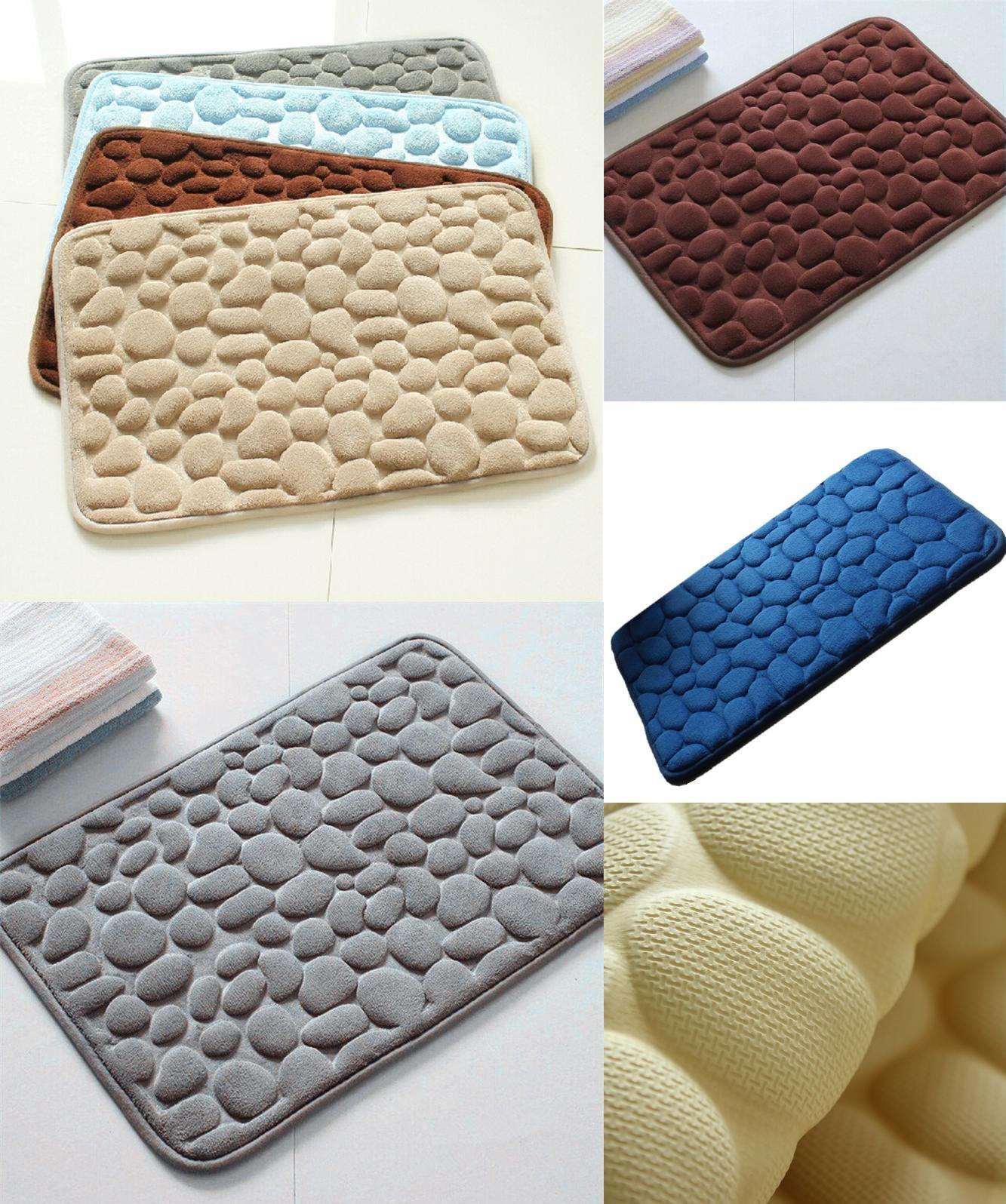 Visit To Buy 3d Bath Rug Pebbles Natural Sbr Rubber Bath Mat Bottom Space Memory Cotton Rebound Mat Super Absorbent Advert Rubber Bath Mat Bath Rug Bath Mat