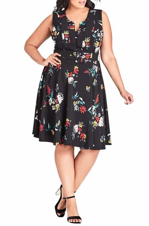 2555c749e476 Vintage Merry Finn Summer Dress Black FLoral Print 1970s M in 2019 ...