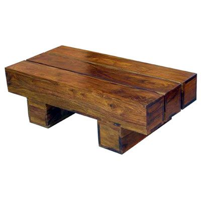 ACACIA WOOD THICK TOP LOW COFFEE TABLE